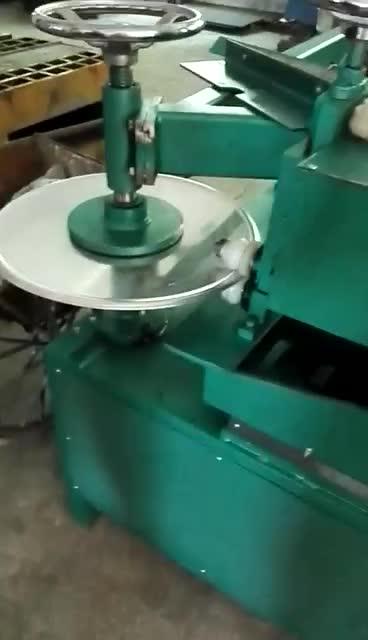 Produsen Langsung Konsesi Harga Melingkar Bevel Pemegang/3 Mm Plat Aluminium Pemotongan dan Flanging Machine untuk Round Tanda Jalan