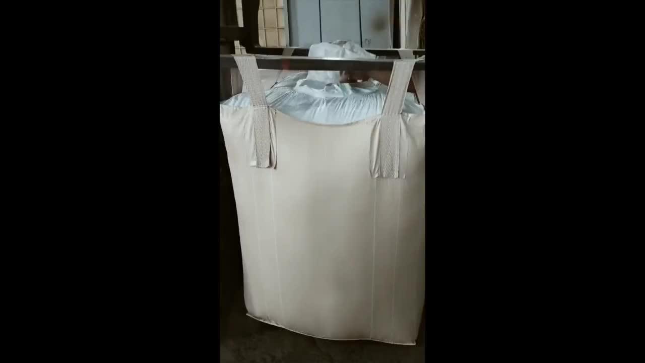 1000 1500 2000KG खाद्य ग्रेड थोक बैग चावल अनाज के लिए पैकेजिंग बड़ा FIBC जंबो बैग