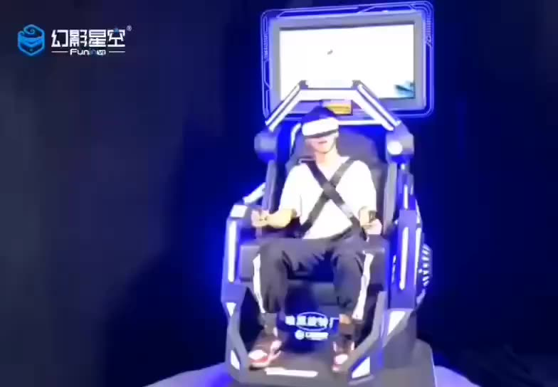 FuninVR Exciting Roller Coaster 360 720 VR Motion Simulator Virtual Reality Gaming Chair with Special Effects