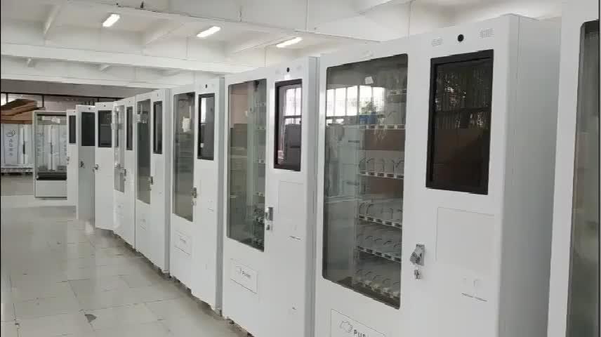 Lanche Máquina de Venda Automática bebida suporte QR código de pagamento