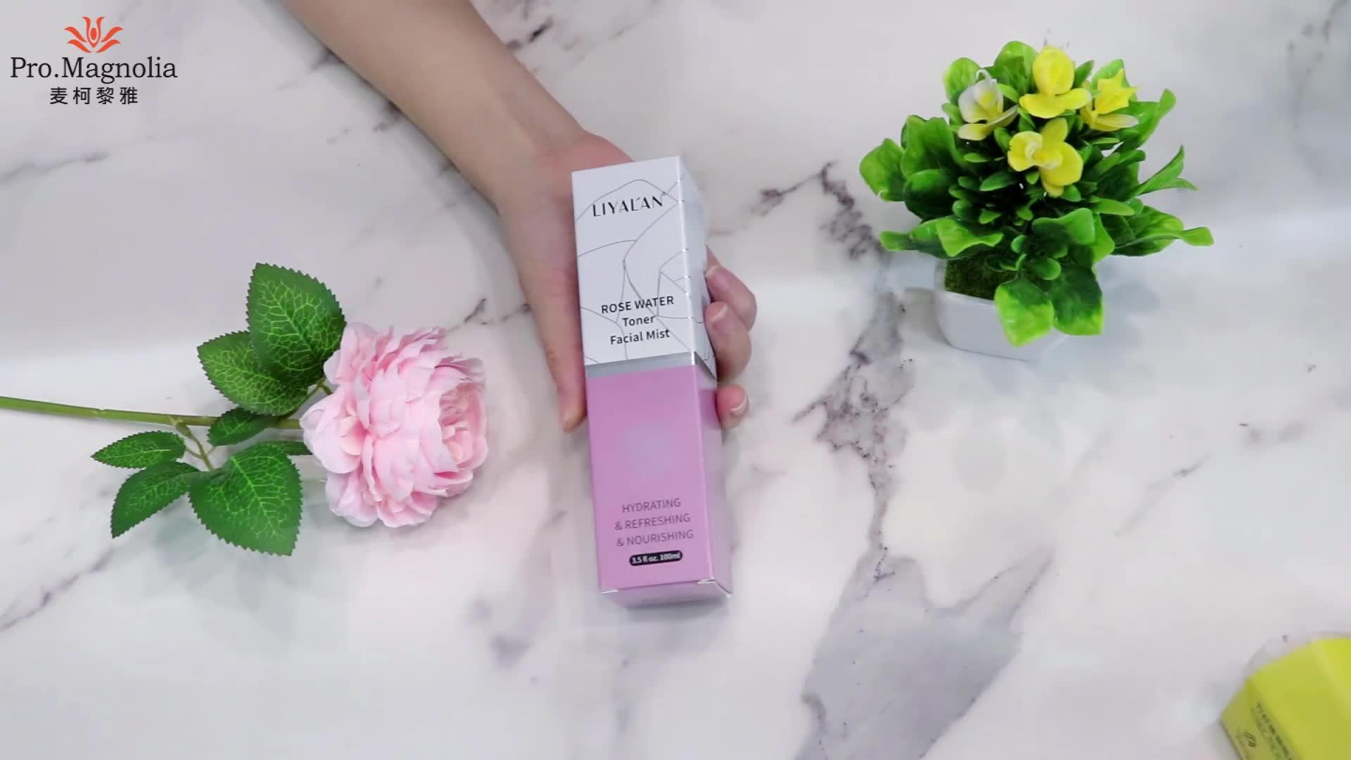 Private Label groothandel bulk natuurlijke biologische pure rose extract Actieve Facial Mist Rose Water