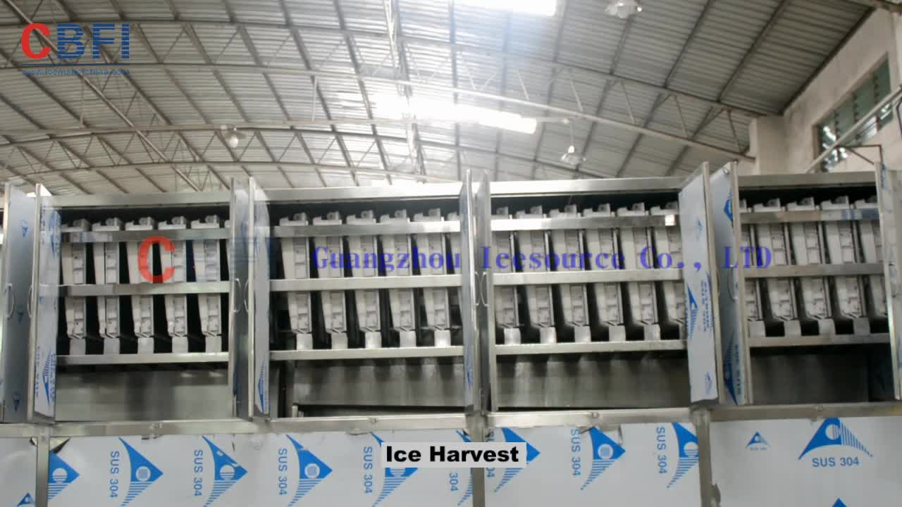 0.5 ton to 25 tons Cube Ice Maker Industrial Cube Ice Machine for Drinking Hotels, Bars and Restaurants