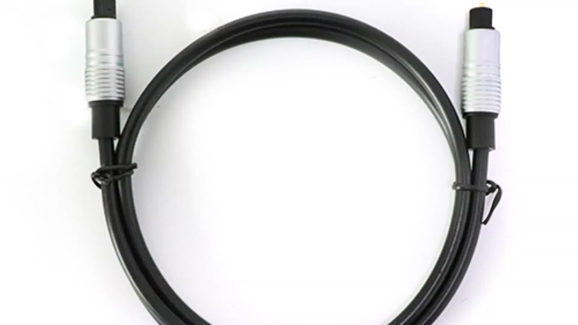 Berlapis Emas Optik Digital Kabel Audio Male To Male Kabel untuk Home Theater, Suara Bar