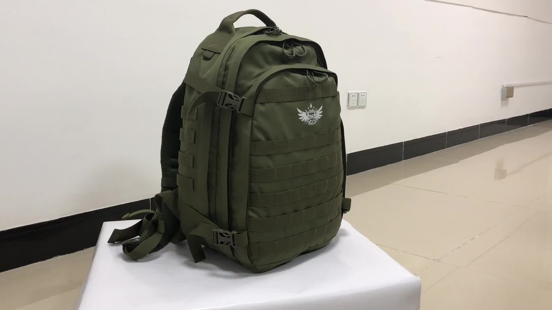 Outdoor lightweight daily use army green hydration pack military backpack
