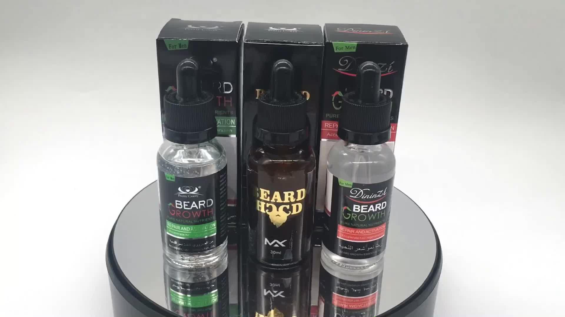 Beyou D'huile De Marque Privée Barbe De Toilettage Cheveux Huile de Croissance De Barbe D'argan 30 ML Pour Asiatique