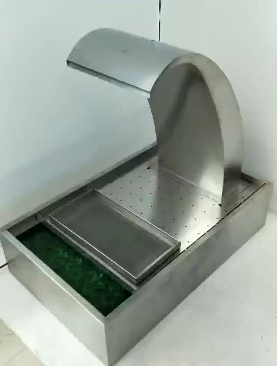 Swimming pool shower equipment stainless steel garden water fountain outdoor water fall wall water feature