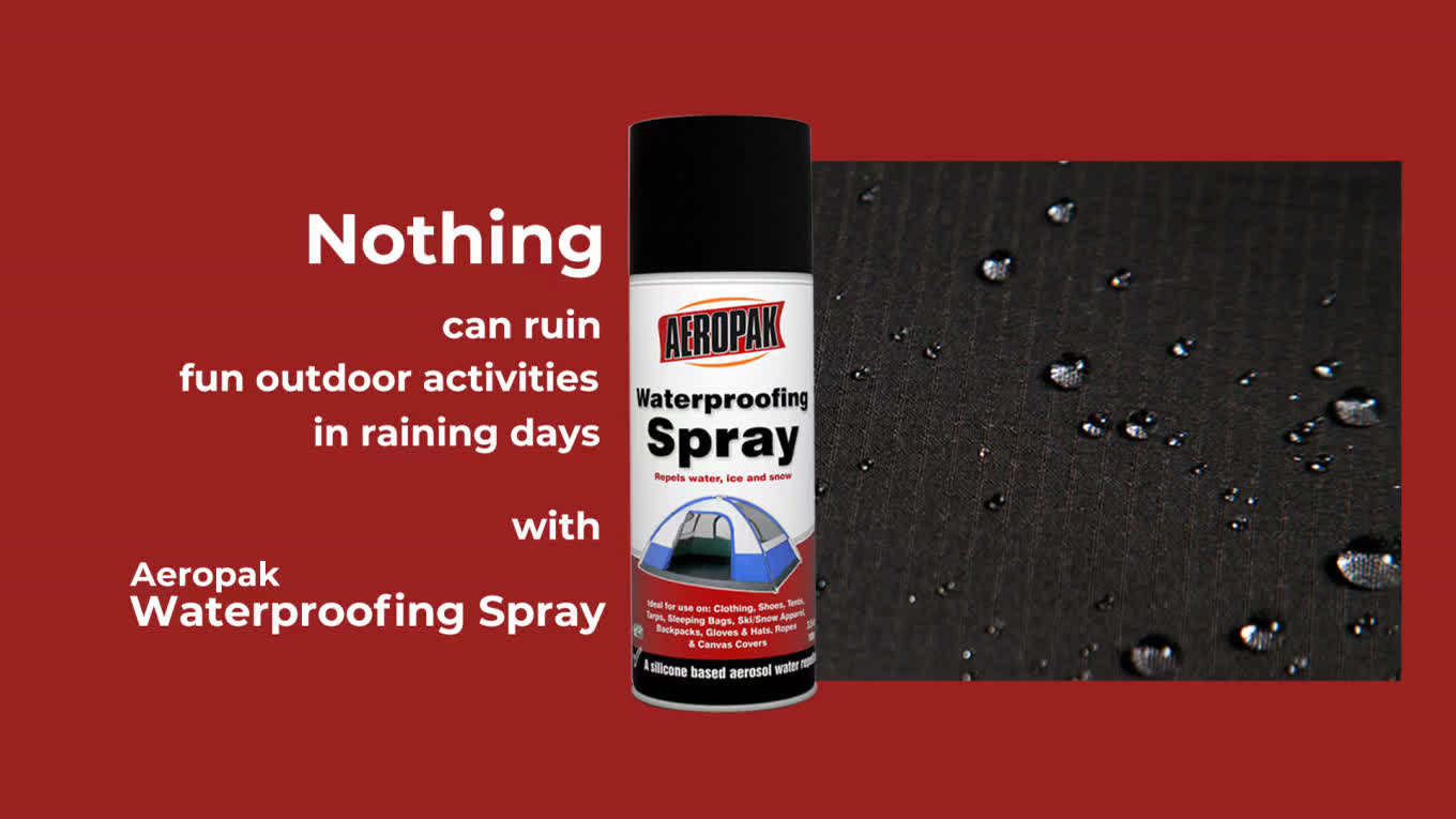 AEROPAK 200ml Waterproofing Spray for camping and clothes