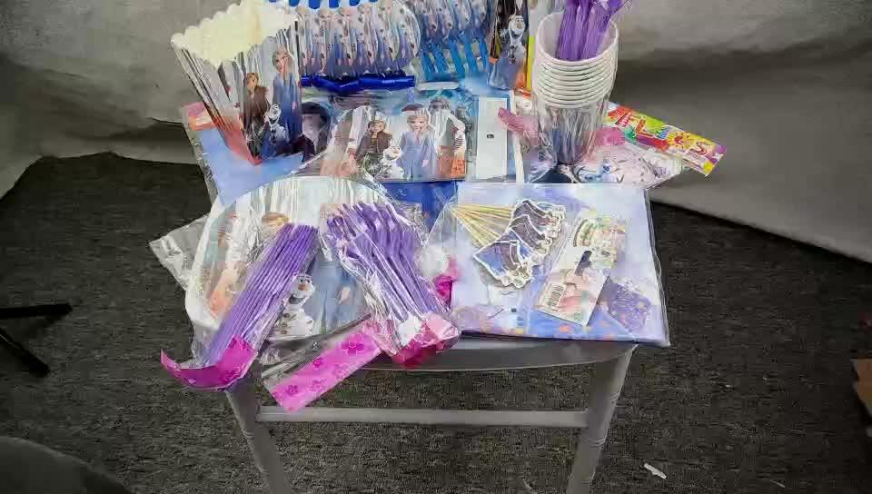 Frozen2 子供の誕生日のテーマパーティー用品セットパーティーの装飾