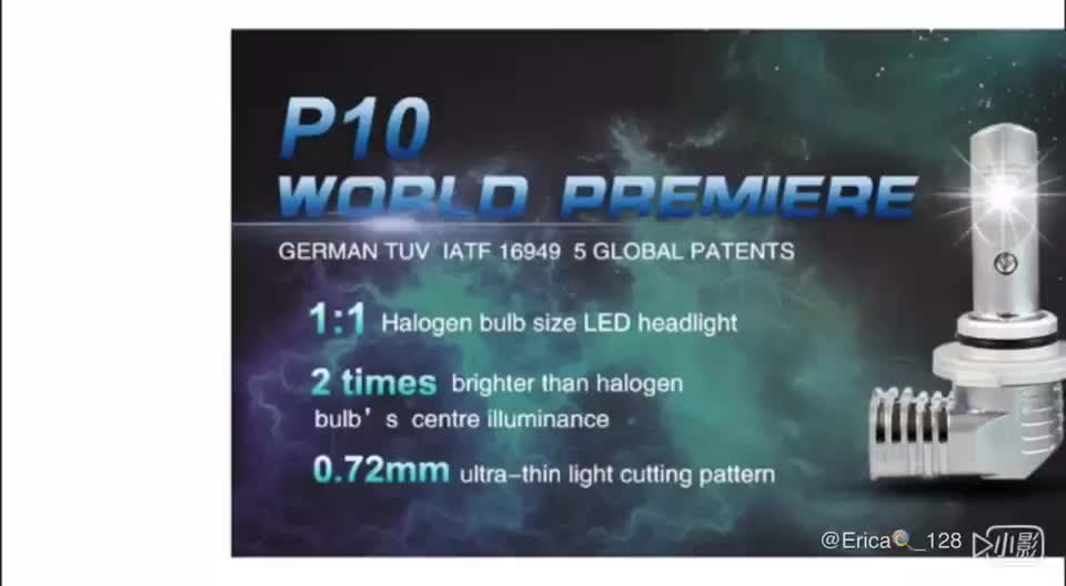 P10 1:1 halogen bulb size hb3 h10 9005 led headlight