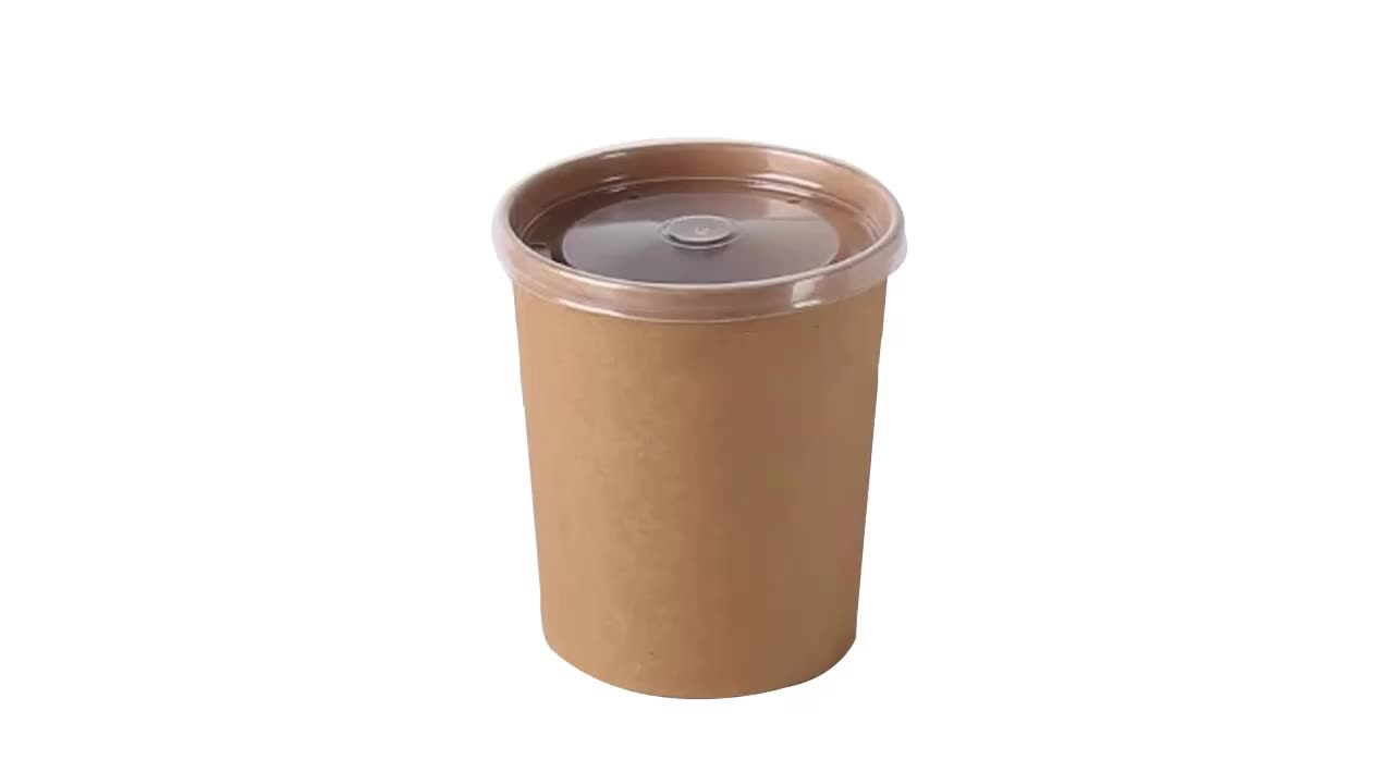 Extripod Disposable Kraft Take Away Food Container Paper Lunch Box Packaging