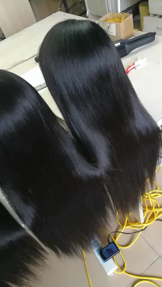No Shedding Brazilian Virgin Hair Straight Full Lace Front Wigs On Sale