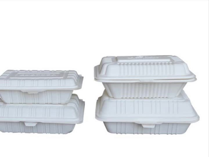 Food grade biodegradable disposable dinnerware corn starch food lunch box container packing