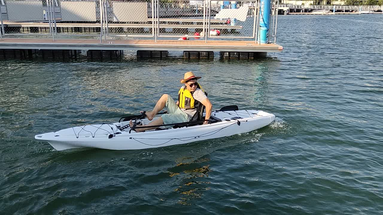 single fisher kayak with pedal drive system or 34T electric motor