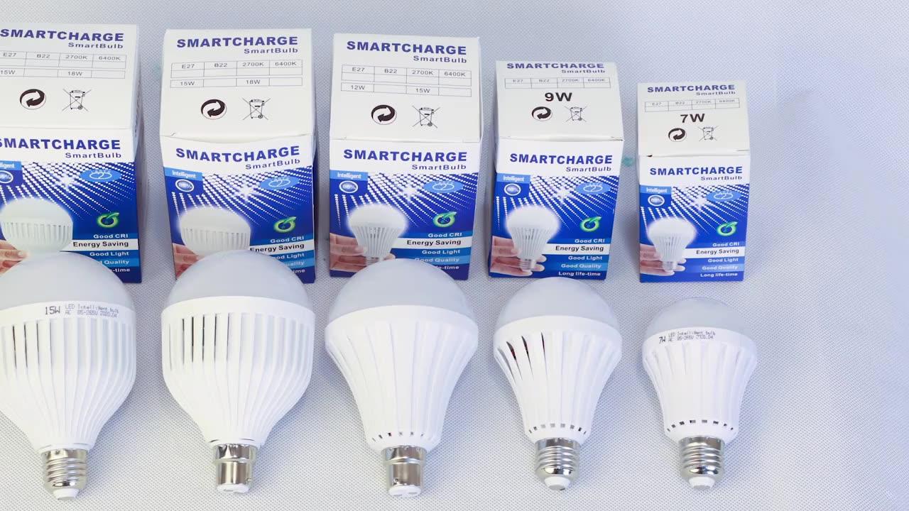 5W 7W 9W 12W 20W 30W E27 B22 Intelligent Rechargeable Lamp Bombillos Emergency Led Bulb,Rechargeable Led Bulb,Led Bulb Lighting
