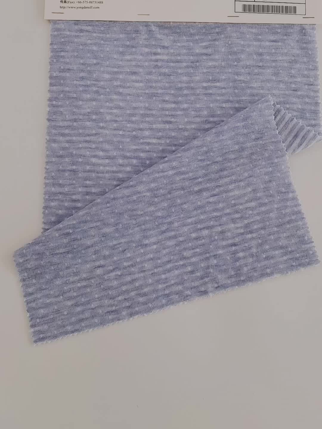 Good wrinkle resistance durable jacquard polyester fabric with high strength