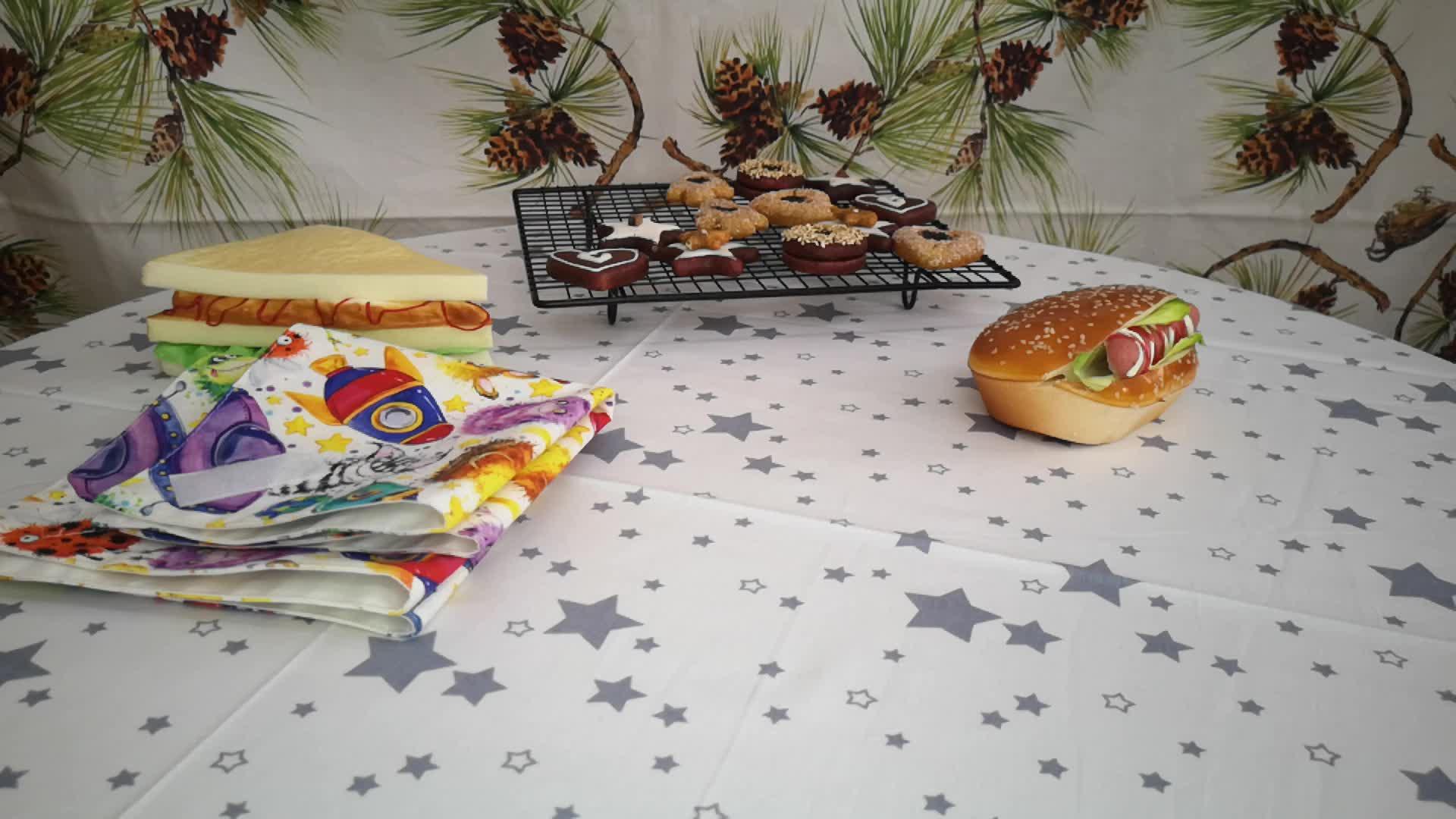 Çevre dostu baskılı sandviç gıda paketi kullanımlık Mini islak çanta saklamak için çocuklar için gıda