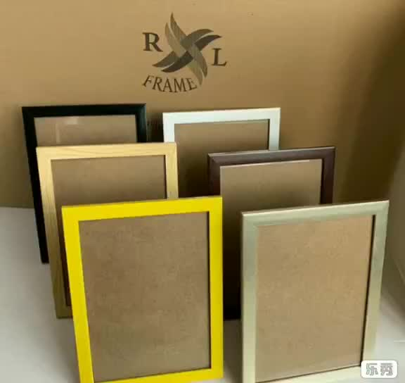 Wholesale amazon hot selling a4 black picture ps photo frame