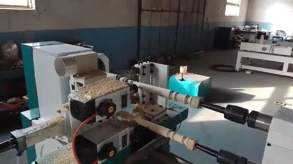 2 assi automatico duplicatore di tornitura tornio di legno di cnc lavorazione del legno macchina