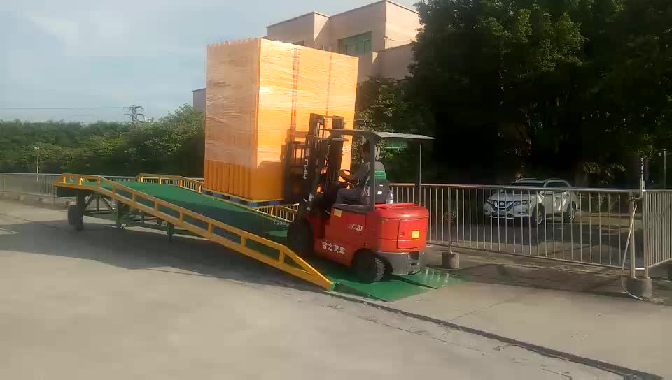 Adjustable Mobile Container 10 Ton Loading Dock Ramp/Leveler with CE ISO