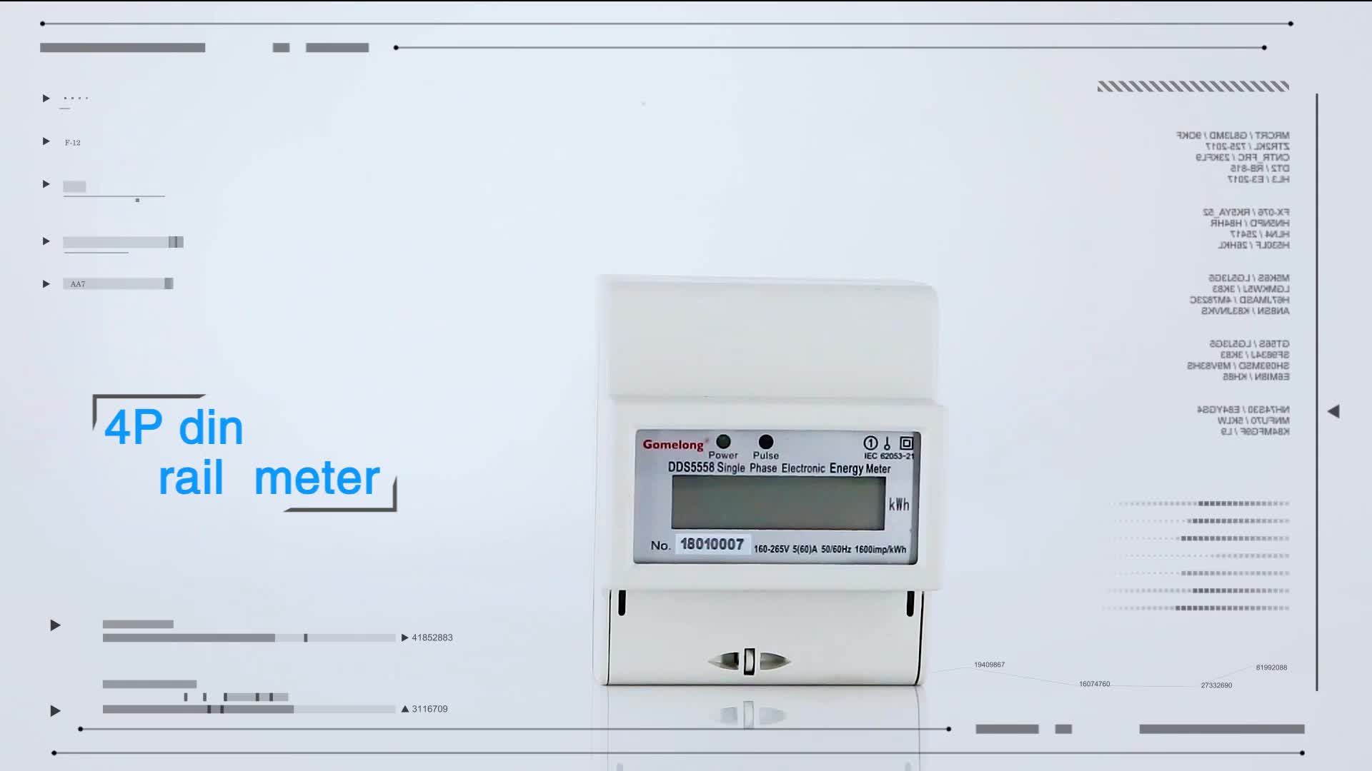 China Supplier Electronic Meter Anti - jamming device Electronic Electric Energy Meter