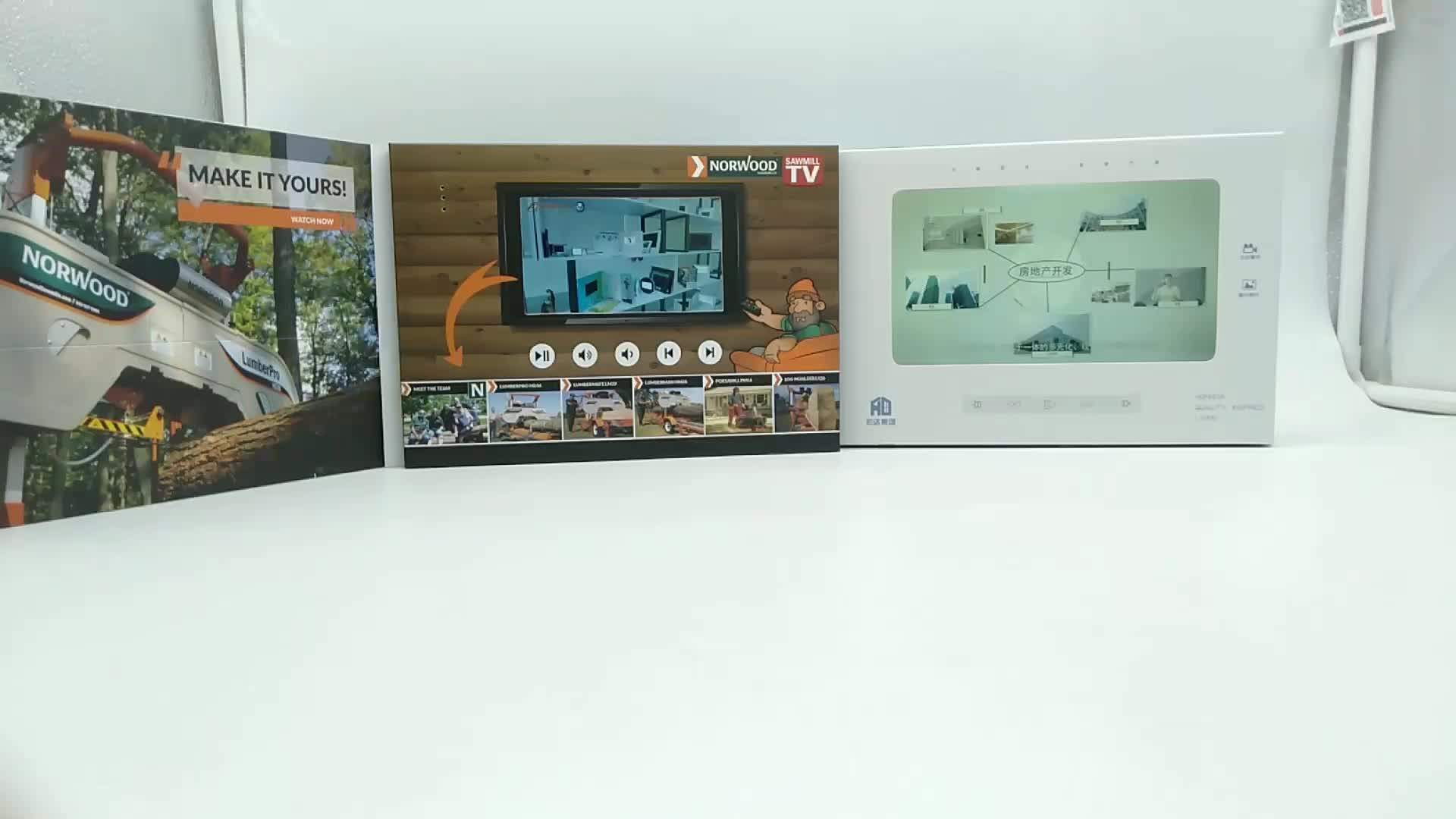 5 インチ Lcd ビデオパンフレットタブレットブックカルタカード液晶画面