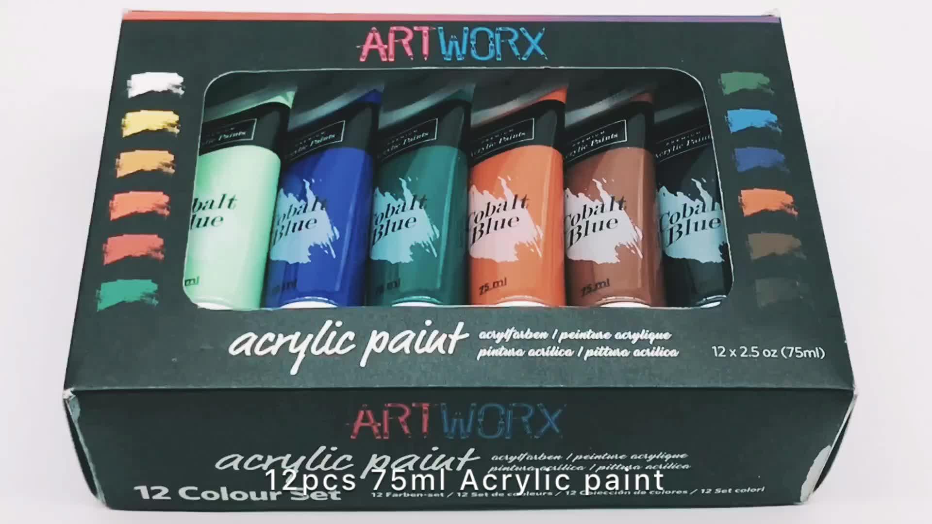 Non-tossico 12 pcs 75 ml Jumbo Artista Acrilico Set di Vernice