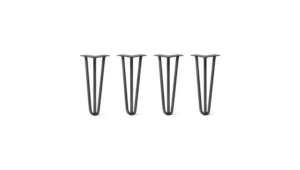 سيقان معدنية لدبوس الشعر, سيقان على شكل دبوسية مناسب للطاولة-22 بوصة
