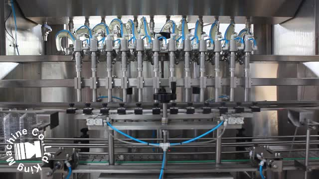 Oil bottle filling and sealing machine or line