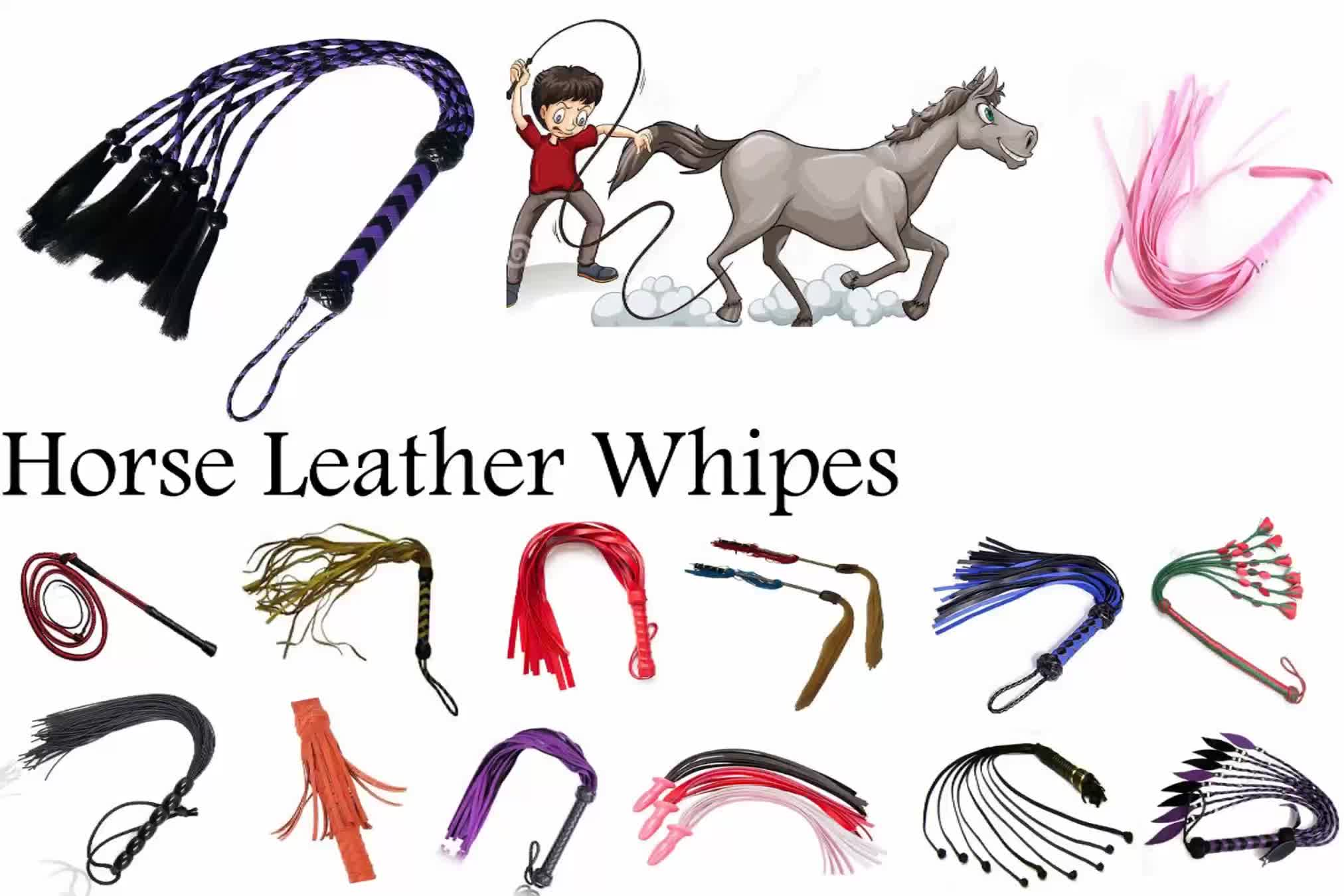 Leather Horse Whip Riding Crop Horsewhip Club whip Handmade