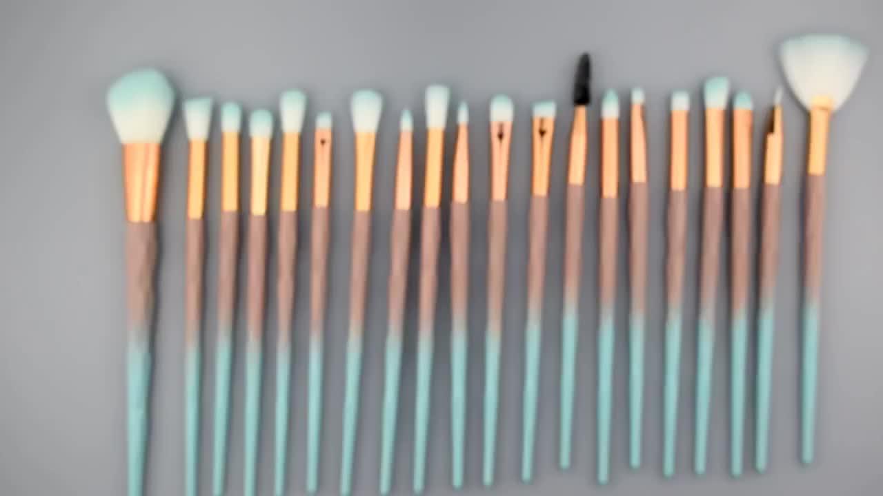 20pcs Eye Makeup Brush Set Diamond Handle Gradient Makeup Beauty Makeup Tool Brush Set