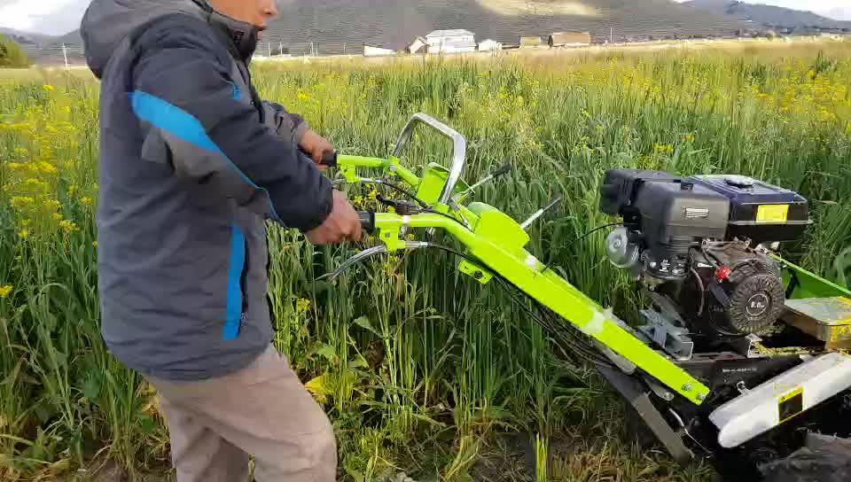 البنزين 8hp 4G90 صغيرة باليد ماكينة حصاد الأرز للبيع