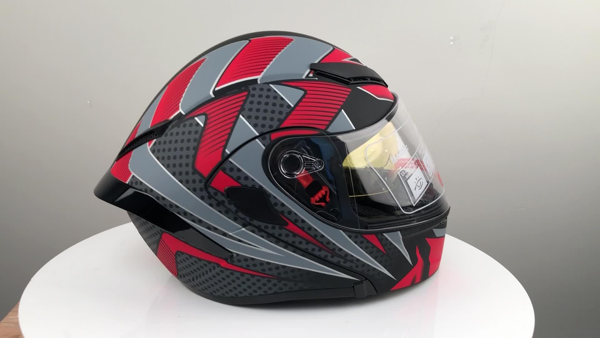 unique flip up Modular casco de motorbike Helmet