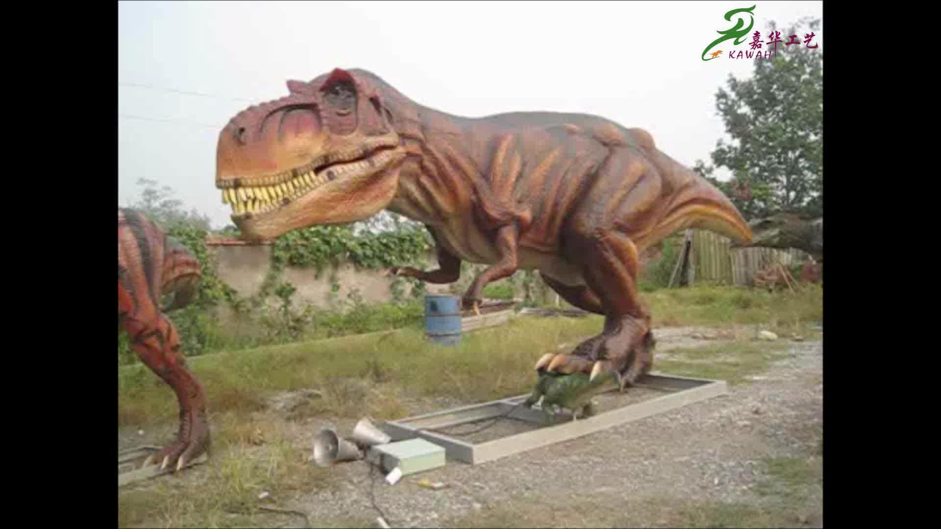 Life Size Fiberglass Dinosaur Statue Of T-rex Statue For