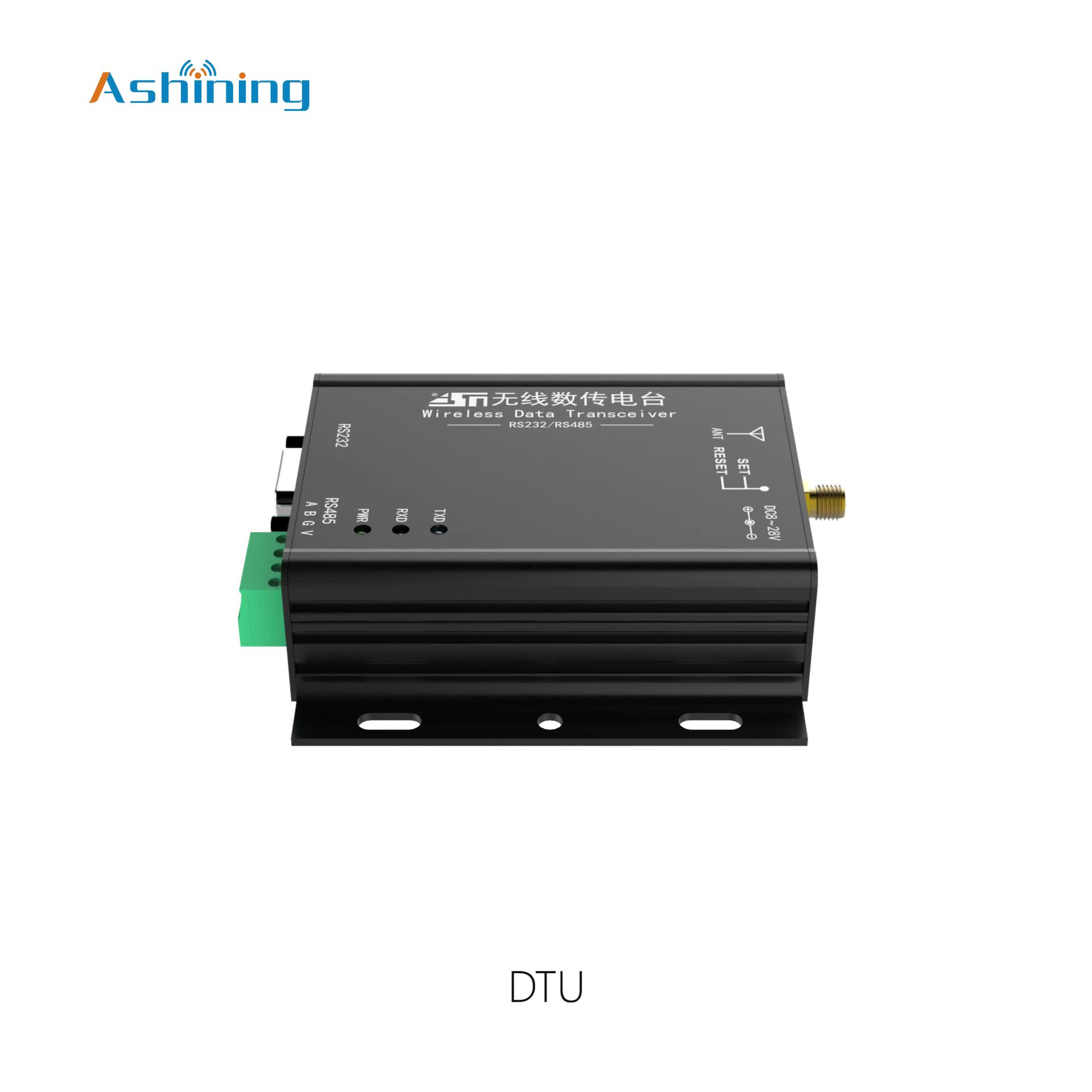 Hot Ashining AS69-dtu20 RS232 RS485 frequency hopping DTU data transfer unit wireless transceiver