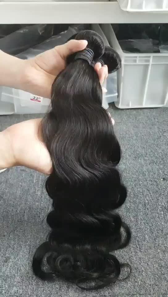 Gros vendeurs de cheveux vierges vierge double dessiné cheveux humains armure faisceaux cuticule aligné cheveux vierges