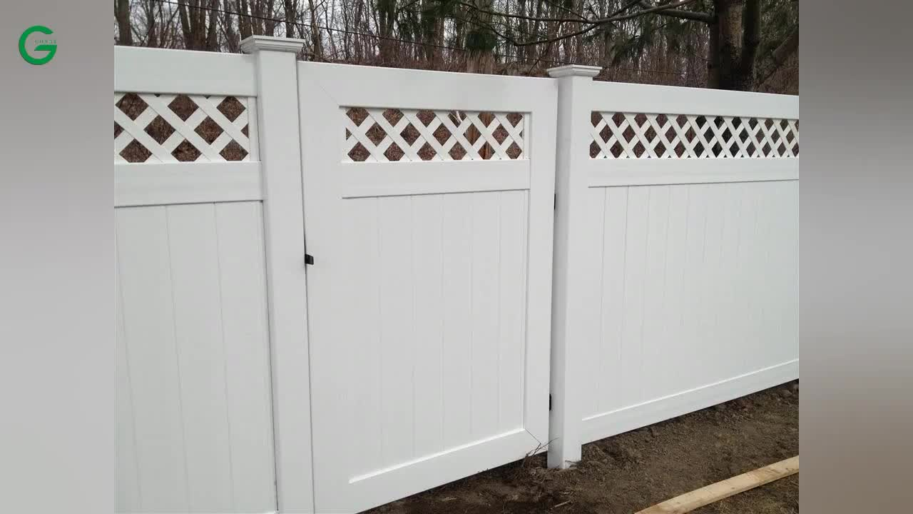 White Vinyl Privacy Fence Panels Cheap Pvc Fence Pvc