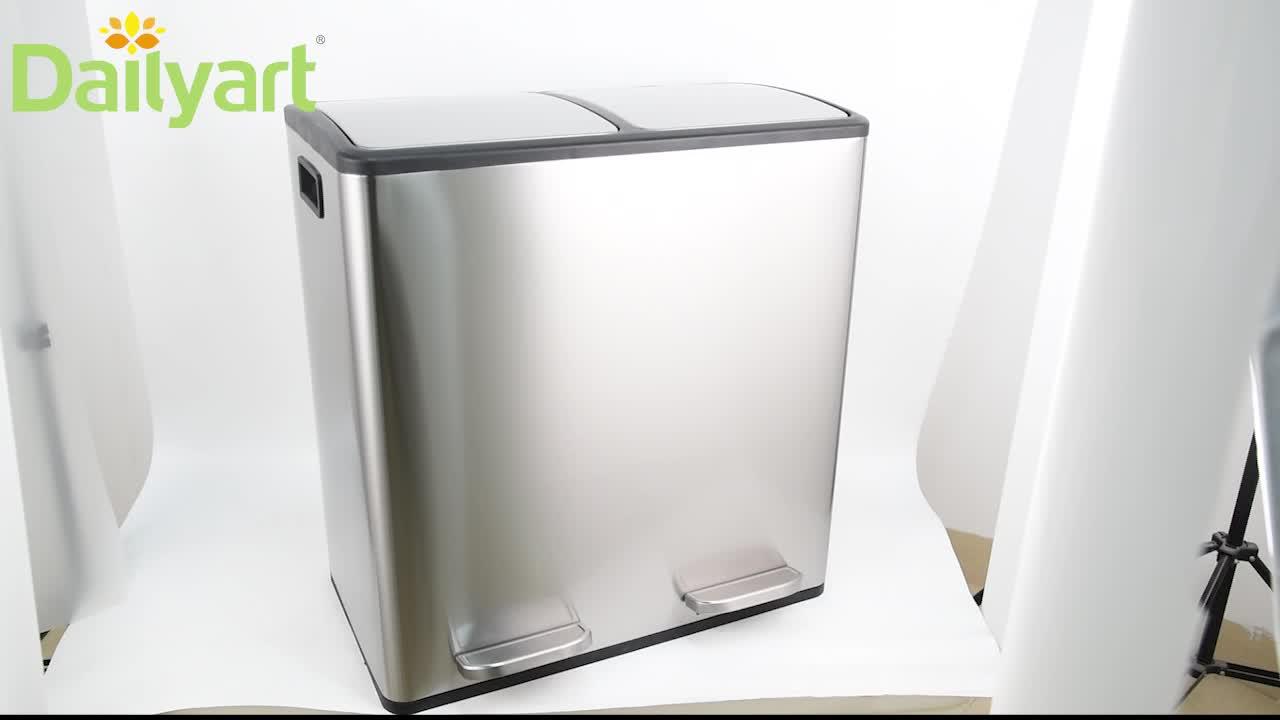 2020 新デザインステンレス鋼自家製クローズペダル分類リサイクル廃棄物ビンとフィルター
