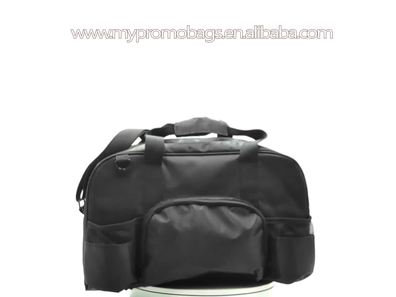 Large zippered duffle men outdoor sports Gym Bag With Mesh Pocket