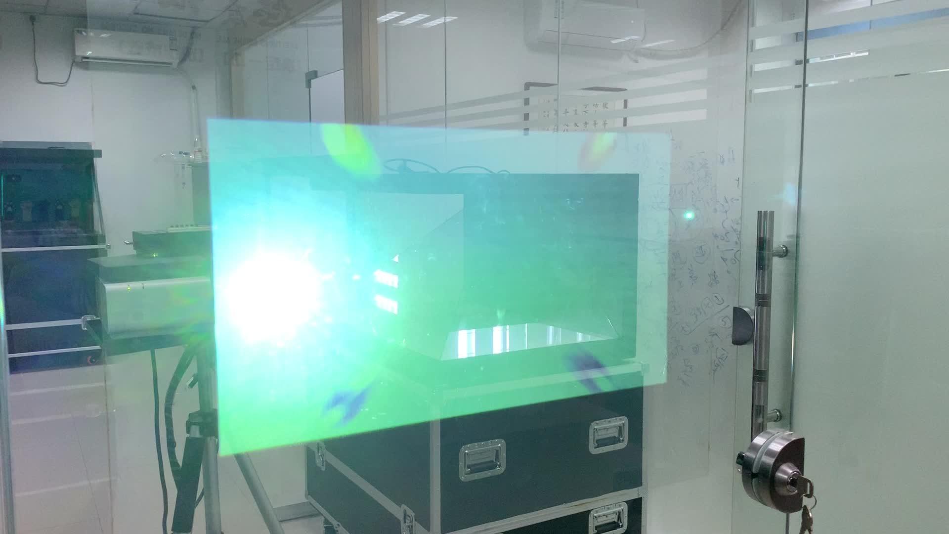 Profesional pabrik pasokan kaca jendela iklan perekat holographic film proyeksi belakang transparan
