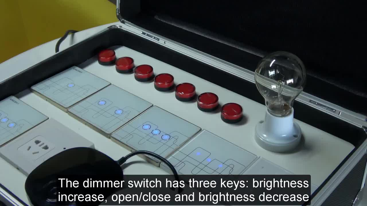 Smart Light dimmer Control ZiGBee Wireless Key and Wall Switch Via Smartphone APP Remote smart home kit Long distance