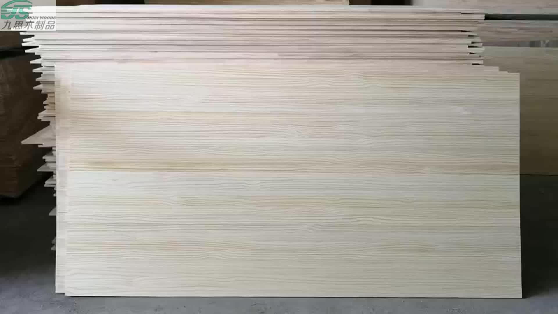 Custom pine wood edge glued board