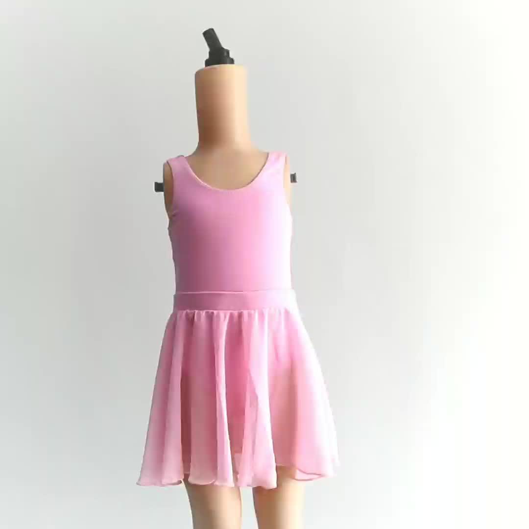 C2315 children dance skirt wholesale pull-on chiffon ballet short skirt for kids wrap skirt kids