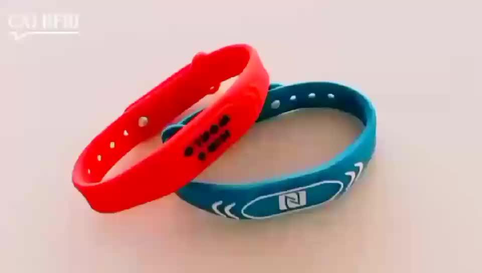 Adjustable passive RFID bracelet NFC TAG waterproof smart rfid band