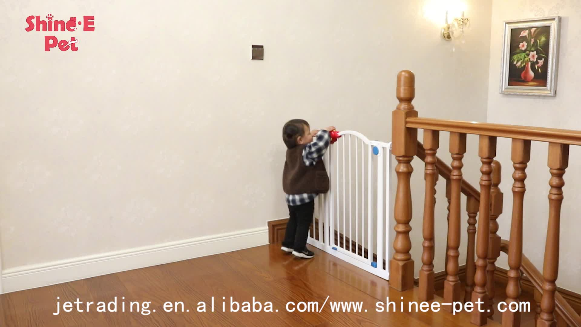 High Quality Plastic Retractable Painting Friendly Baby Safety Fence Gate Door Gate