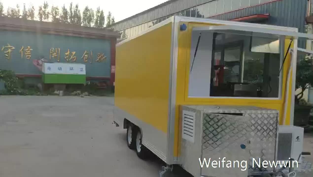 CE aprove улица быстрого питания грузовик кофе корзину быстрого питания грузовик с нержавеющая сталь