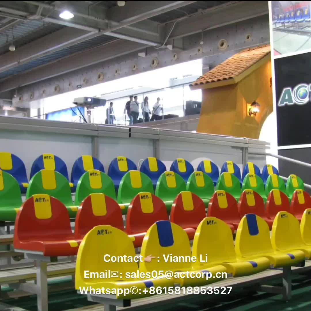 Punta e rotoli sport tribuna, metallo bleacher posti a sedere, alluminio gradinate posti a sedere