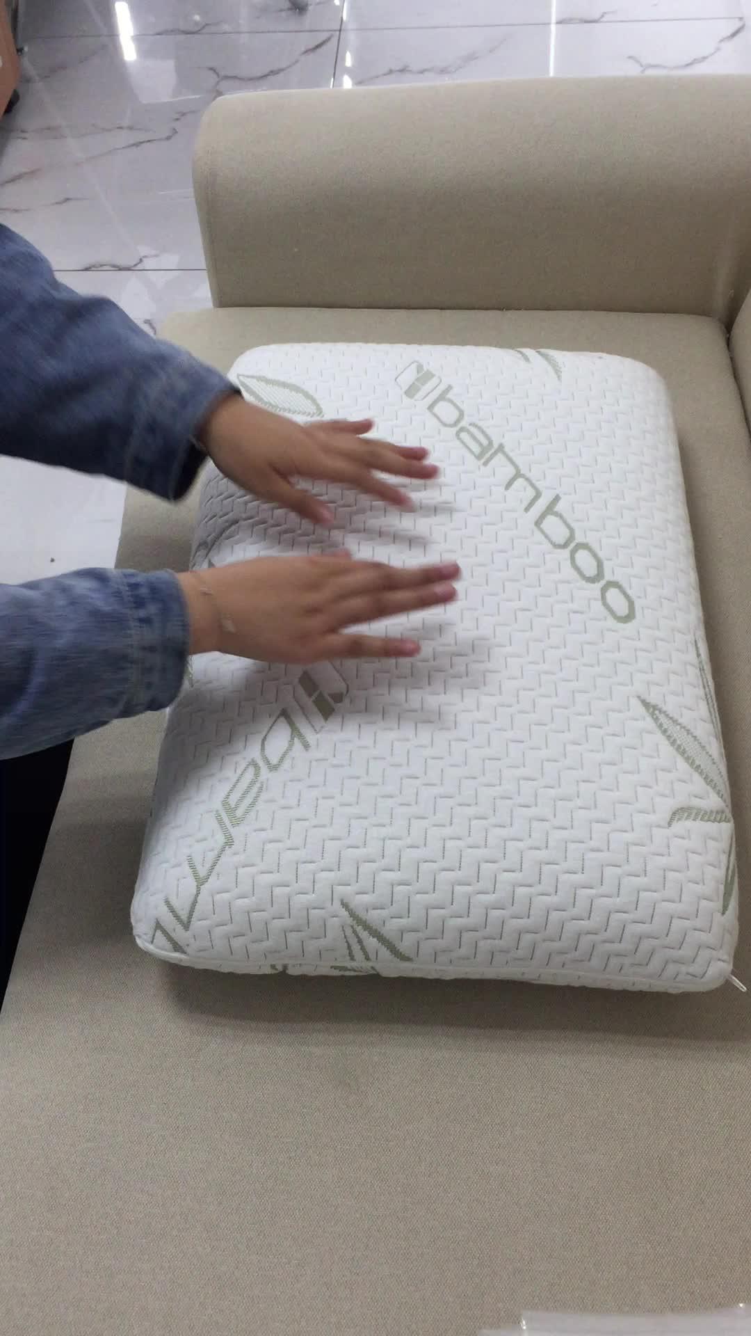 Antibacterial orthopedic memory foam pillow bamboo pillow orthopedic pillow