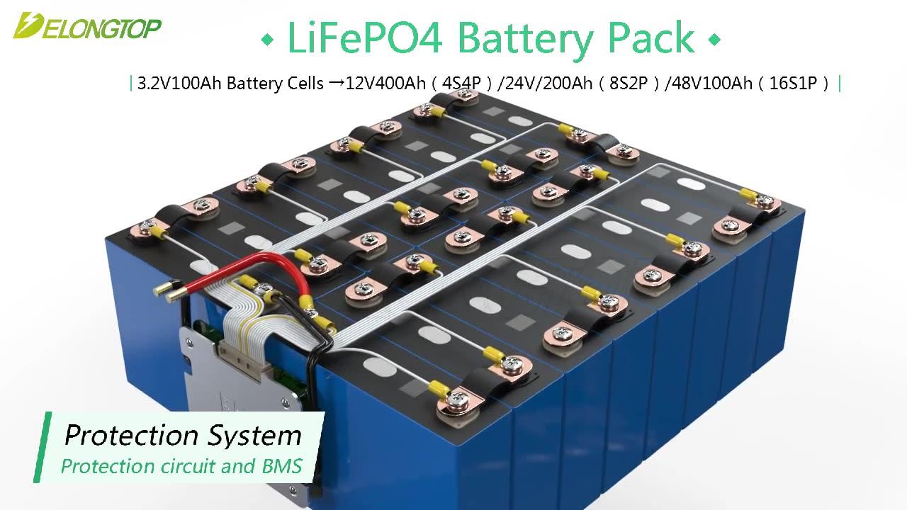 بطاريات شمسية 24 فولت 200ah lifepo4 بطارية ليثيوم أيون لتخزين الطاقة الشمسية
