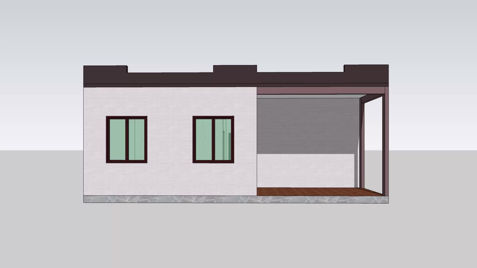 2020 חדש עיצוב זול טרומי בתים עם אמבטיה עבור אלג 'יריה ודרום אפריקה שווקים