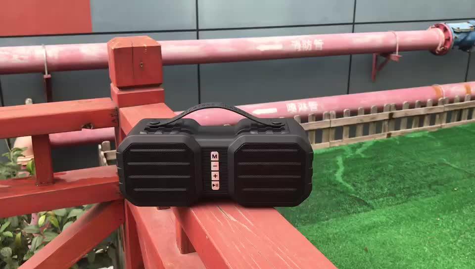 amazon best sellers outdoor portable waterproof parlantes 2.0 speaker with woofers